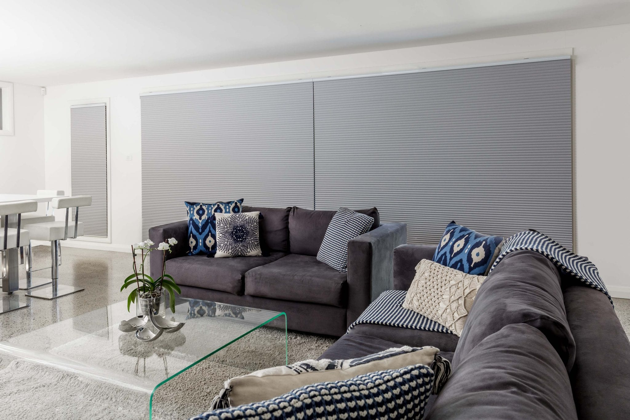 Honeycomb Blinds angled closed