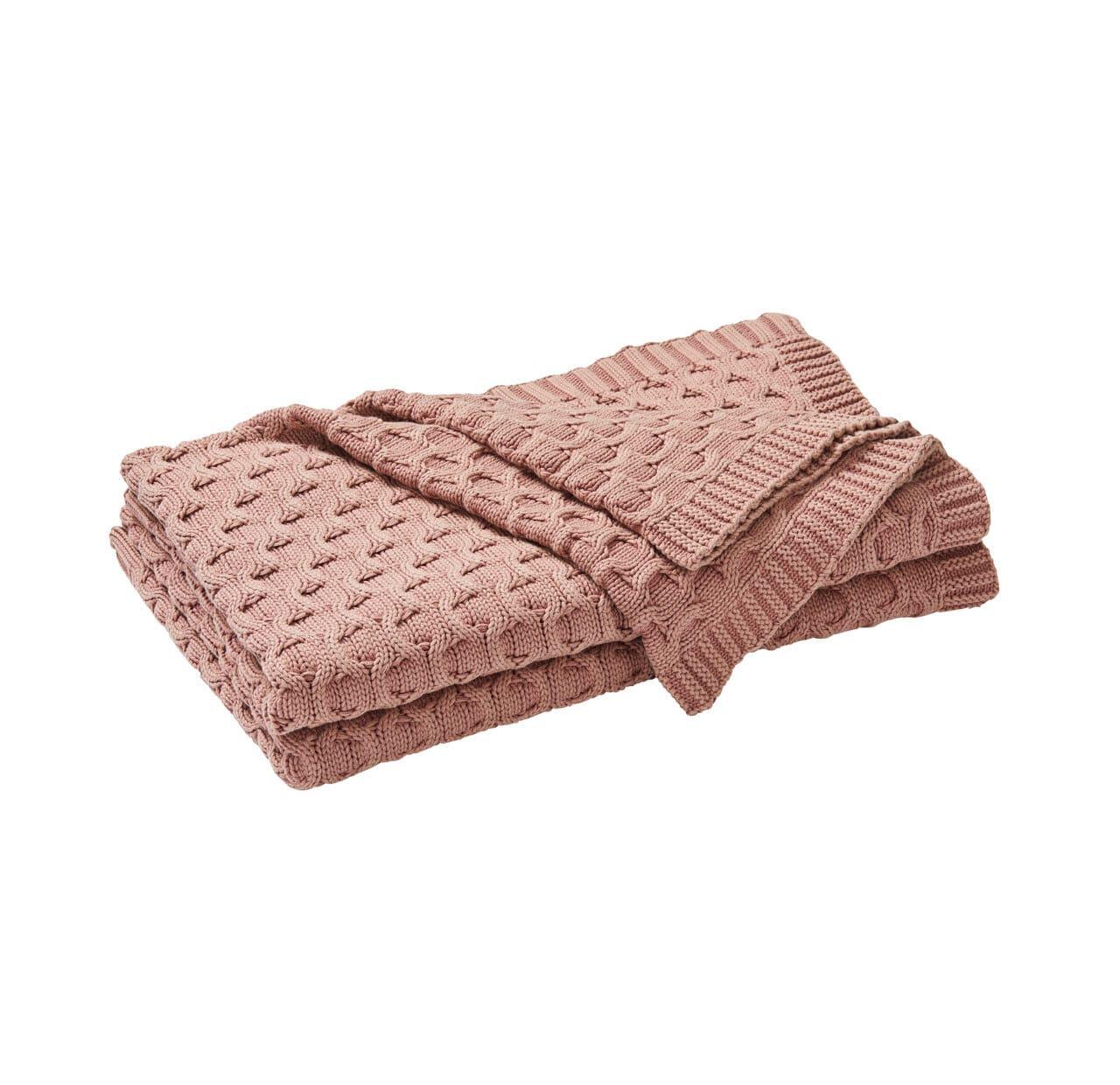 Delaney Throw Rug - Cameo Pink