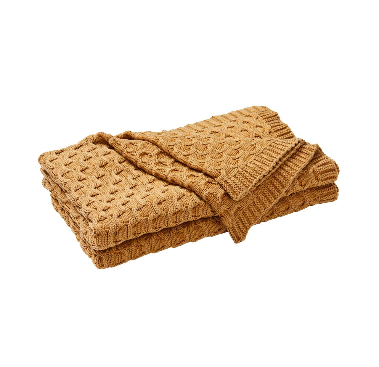 Delaney Throw Blanket - Dijon
