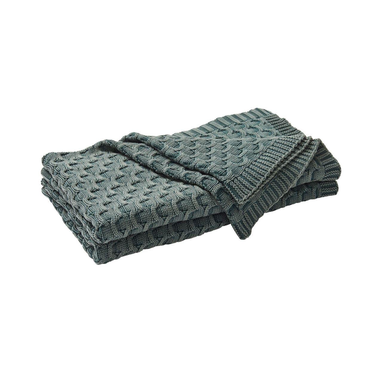 Delaney Throw Blanket - Ivy Green