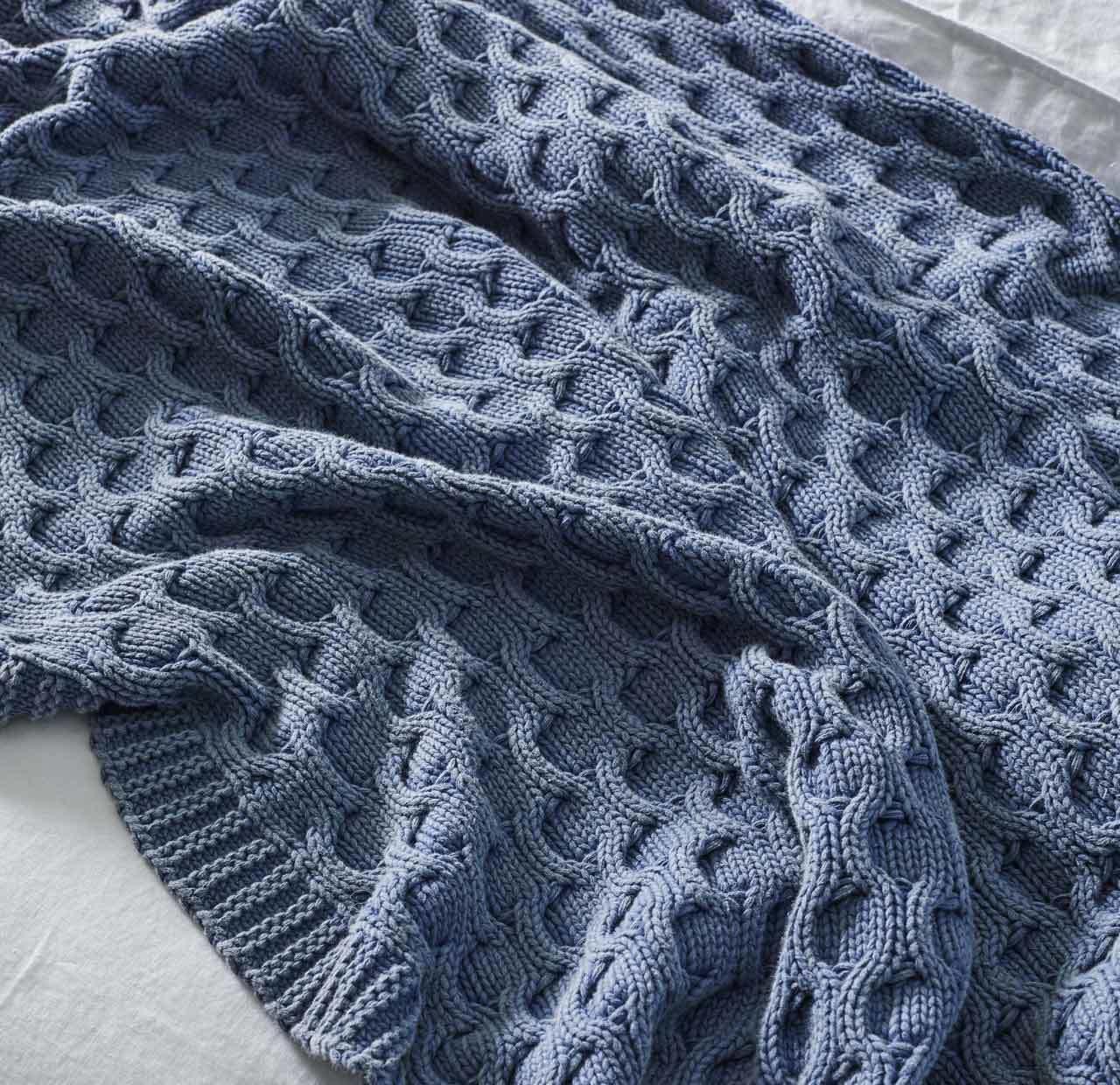 Delaney Throw Rug - Pigment Blue