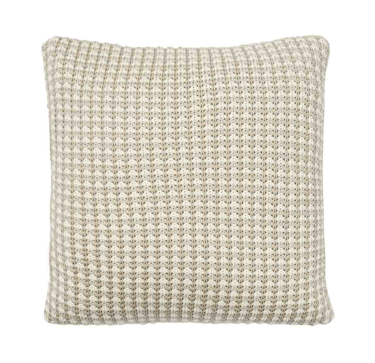 Sausalito Knitted Cushion - Sandstorm